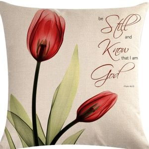 Pillow Cover- NEW- Christian Be Still and Know God